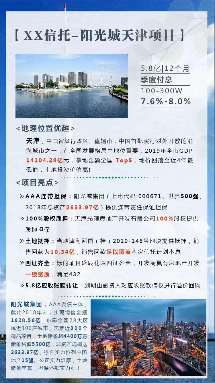 长安信托-阳光城天津项目